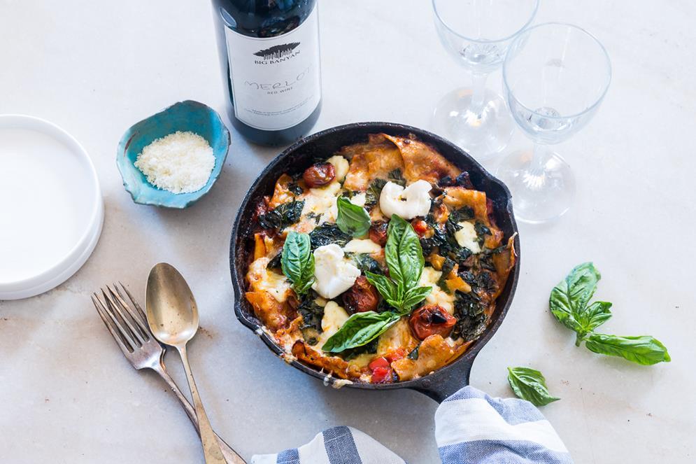 30-minute-vegetarian-lasagna-skillet-1