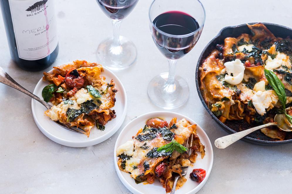 30-minute-vegetarian-lasagna-skillet-3