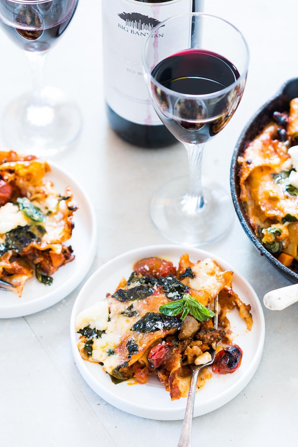 30-minute-vegetarian-lasagna-skillet-5