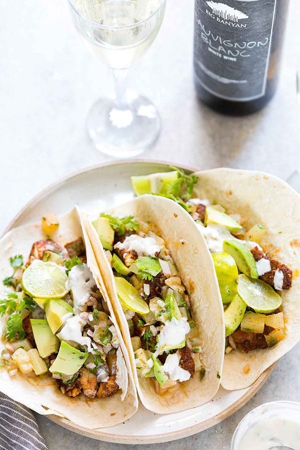 Tilapia fish tacos with pineapple salsa for Fish tacos with tilapia