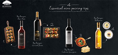 4 basic wine and food pairing rules