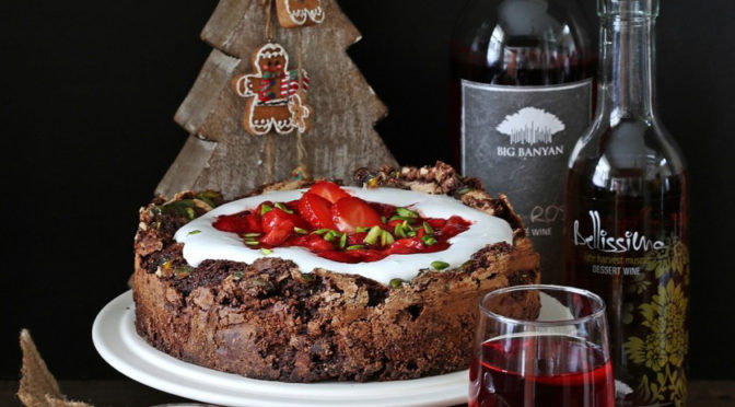 Chocolate Berry Wine Fallen Gateau