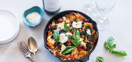 30-minute Vegetarian Lasagna Skillet