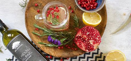 Pomegranate & White Wine Spritzer