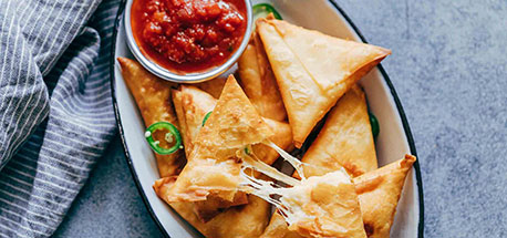 Jalapeno Three Cheese Samosa