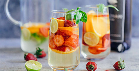 Strawberry Orange White Wine Sangria